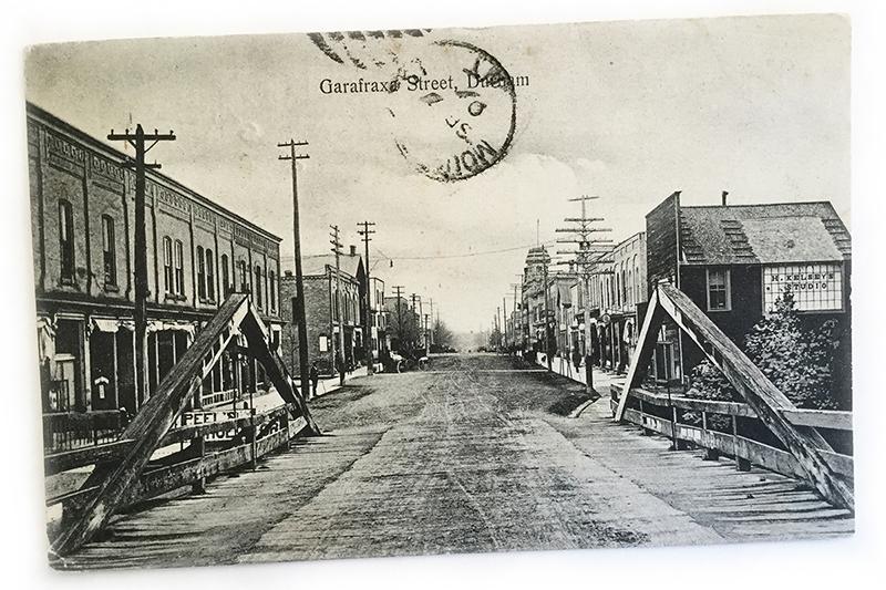 Vintage photograph of Durham Ontario